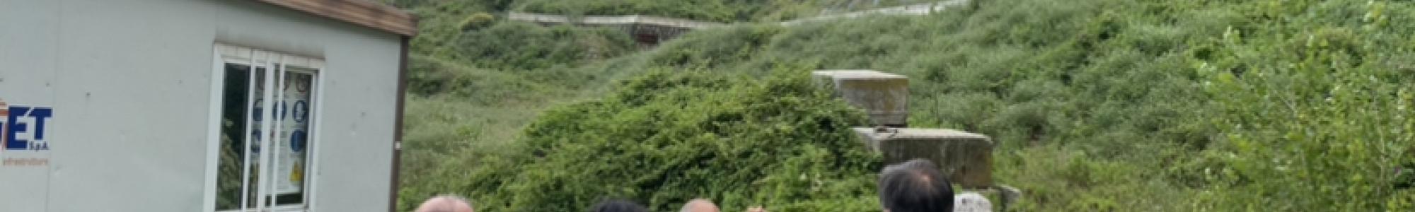Il sopralluogo a Cava Lupara