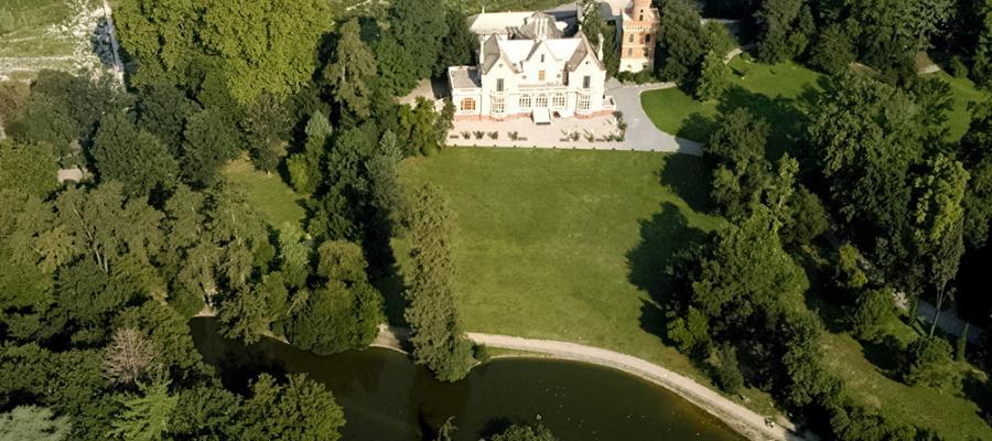 Veduta aerea Villa Serra
